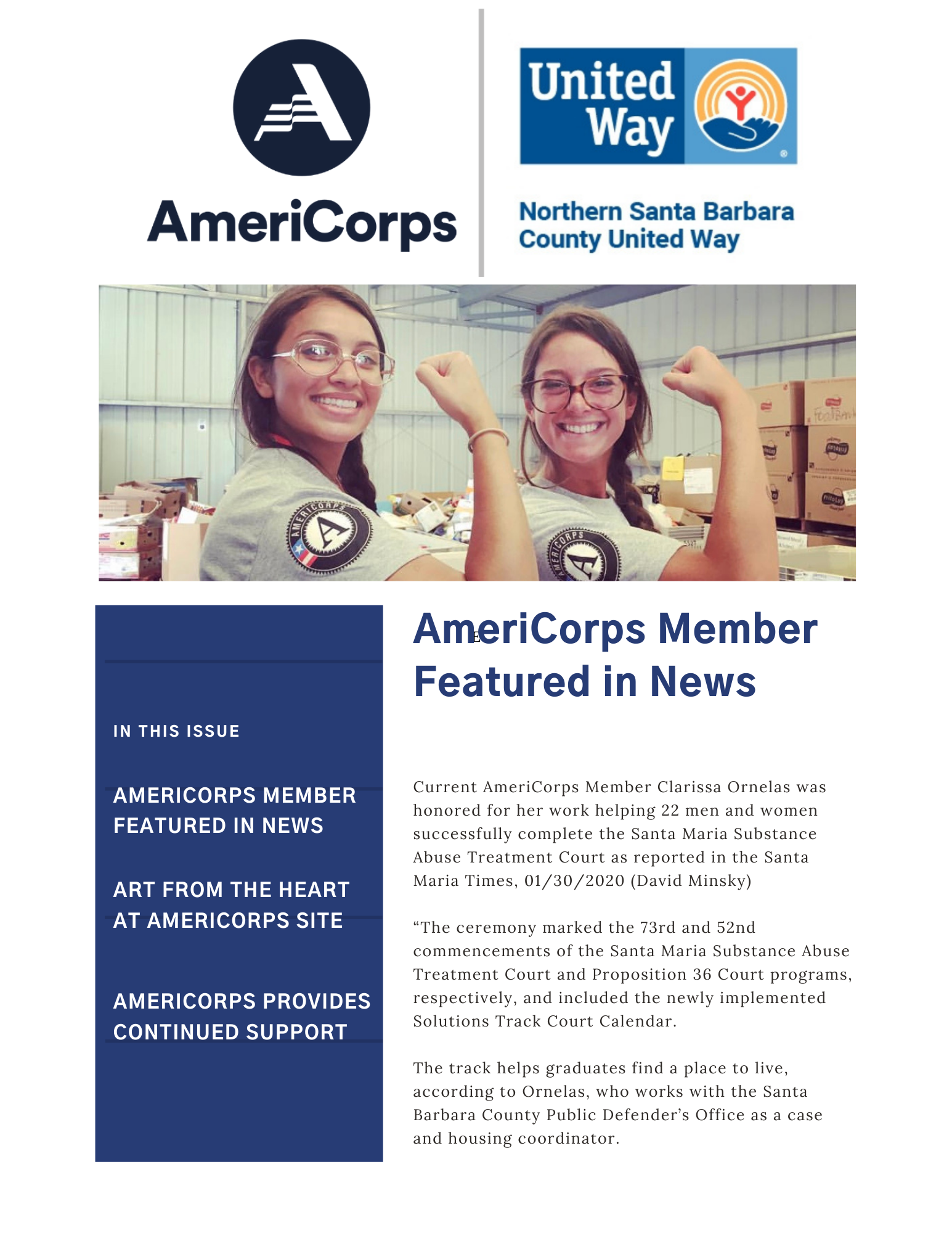AmeriCorps Newsletter